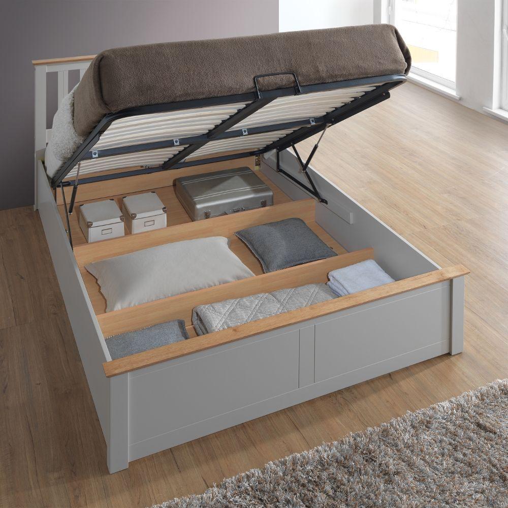 King Size Bett Mit Lagerung Lagerung Bett Mit Schubladen