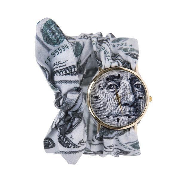 MJARTORIA Dress watch Women Cloth Quartz-Watch Fashion Woman WristWatch Ladies clock Fabric Sweet Female Bracelet Watch