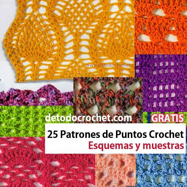 Todo crochet | Puntos, Puntos crochet y Patrón gratis