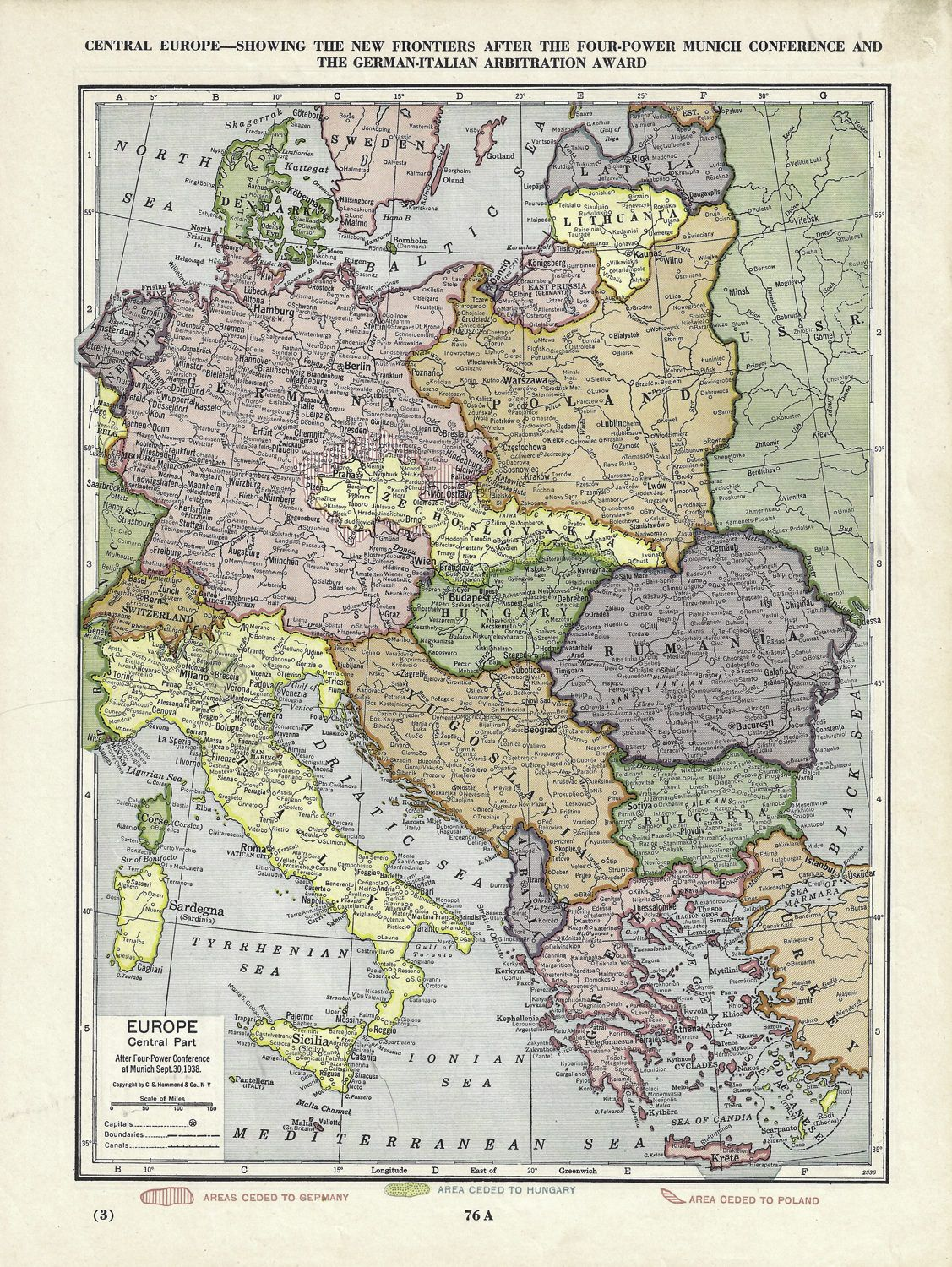 Map of Europe 1938 | InfoGraphics History, Maps & Geography ...