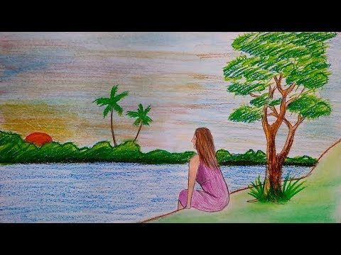 1 Youtube Scenery Drawing For Kids Drawings Oil Pastel Drawings