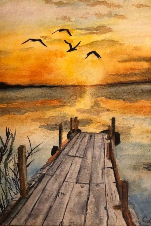 Photo of Simple Watercolor Landscape Painting Ideas #watercolorarts – watercolor