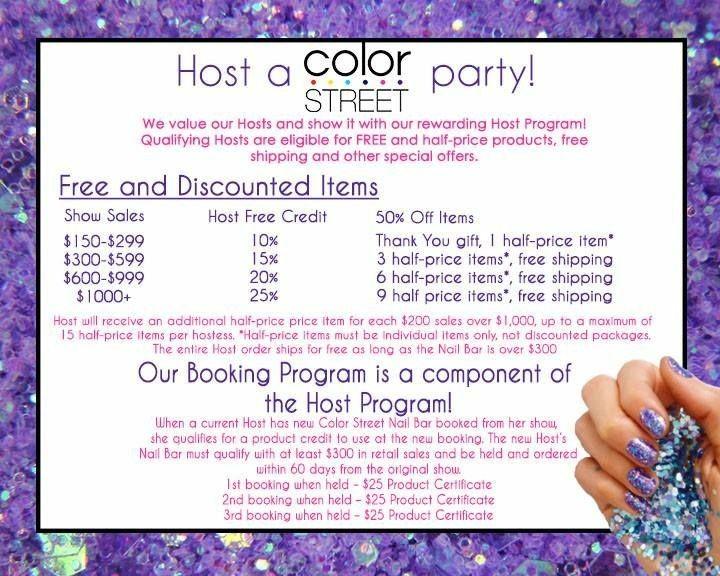 Color Street Hostess Rewards Color Street Nails In