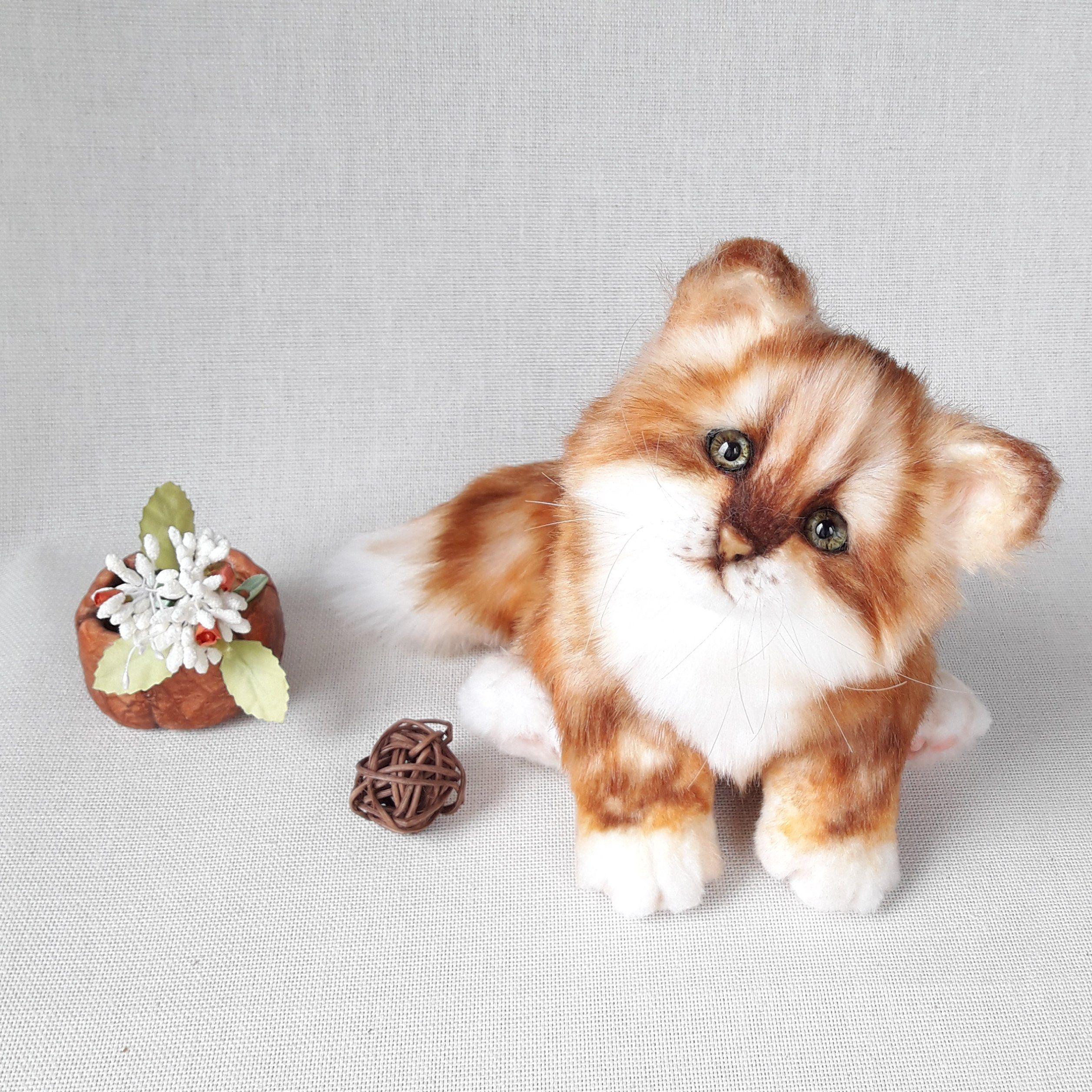 cat teddy teddy cat (make to order )kitty teddy orange cat