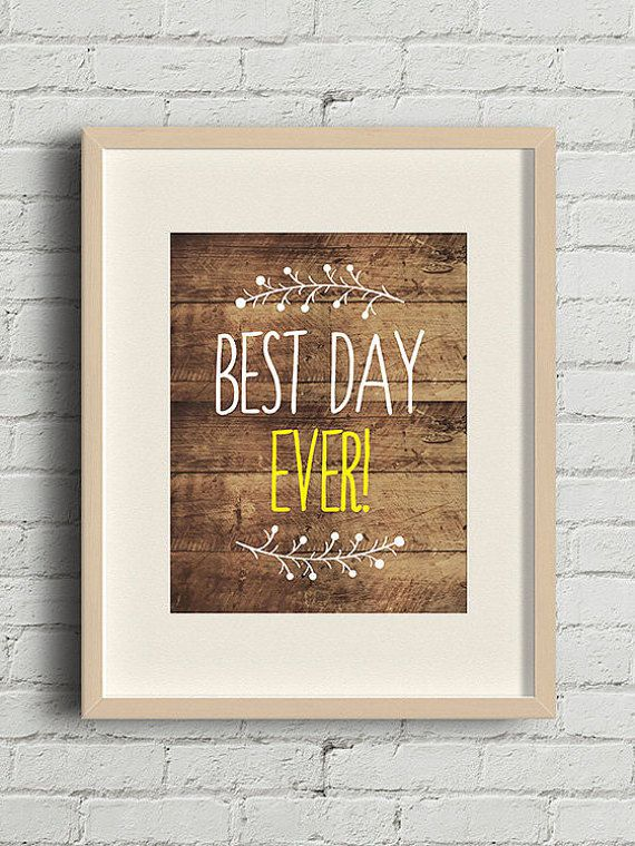 Wood Wall Art Rustic Wood Wedding Sign Best Day Ever By Zoyu Wood Wedding Signs Rustic Wall Art Quotes Party Signs Diy