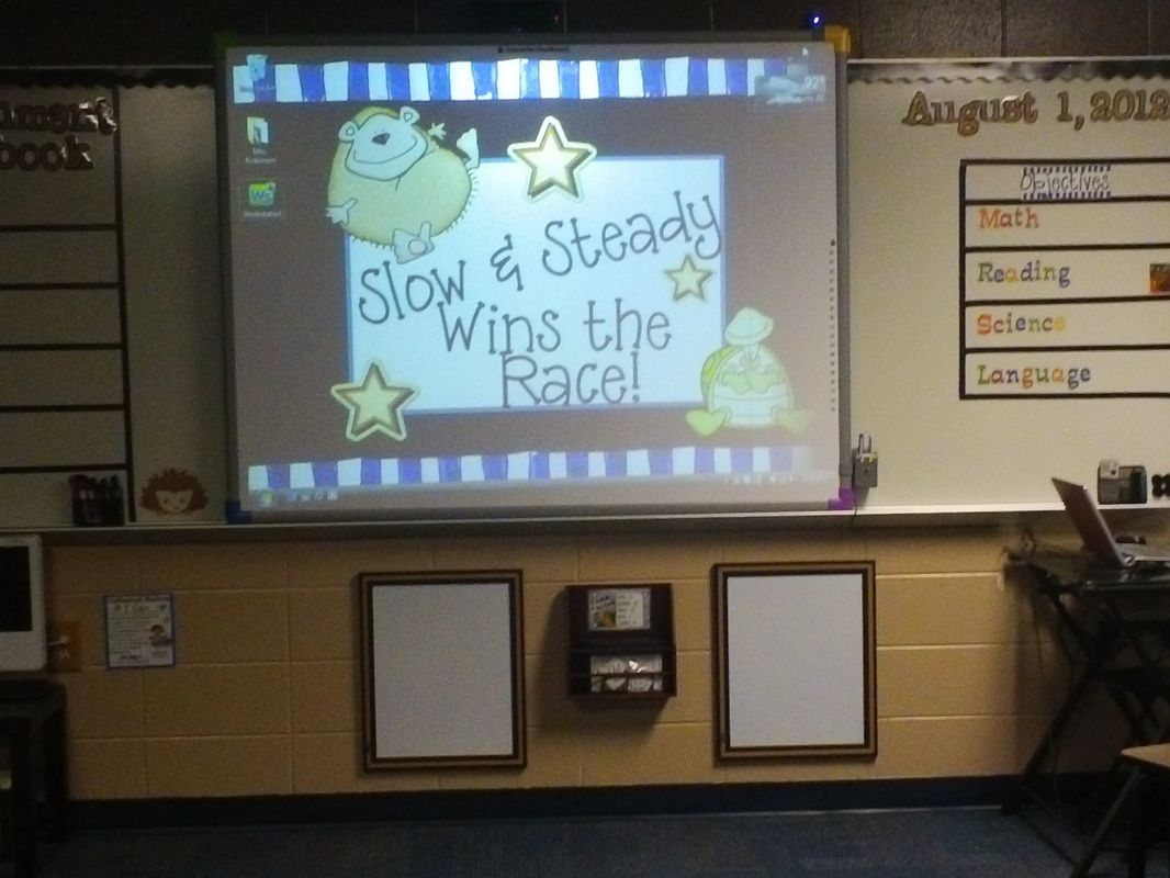 Classroom Tour Slow and Steady Wins the Race
