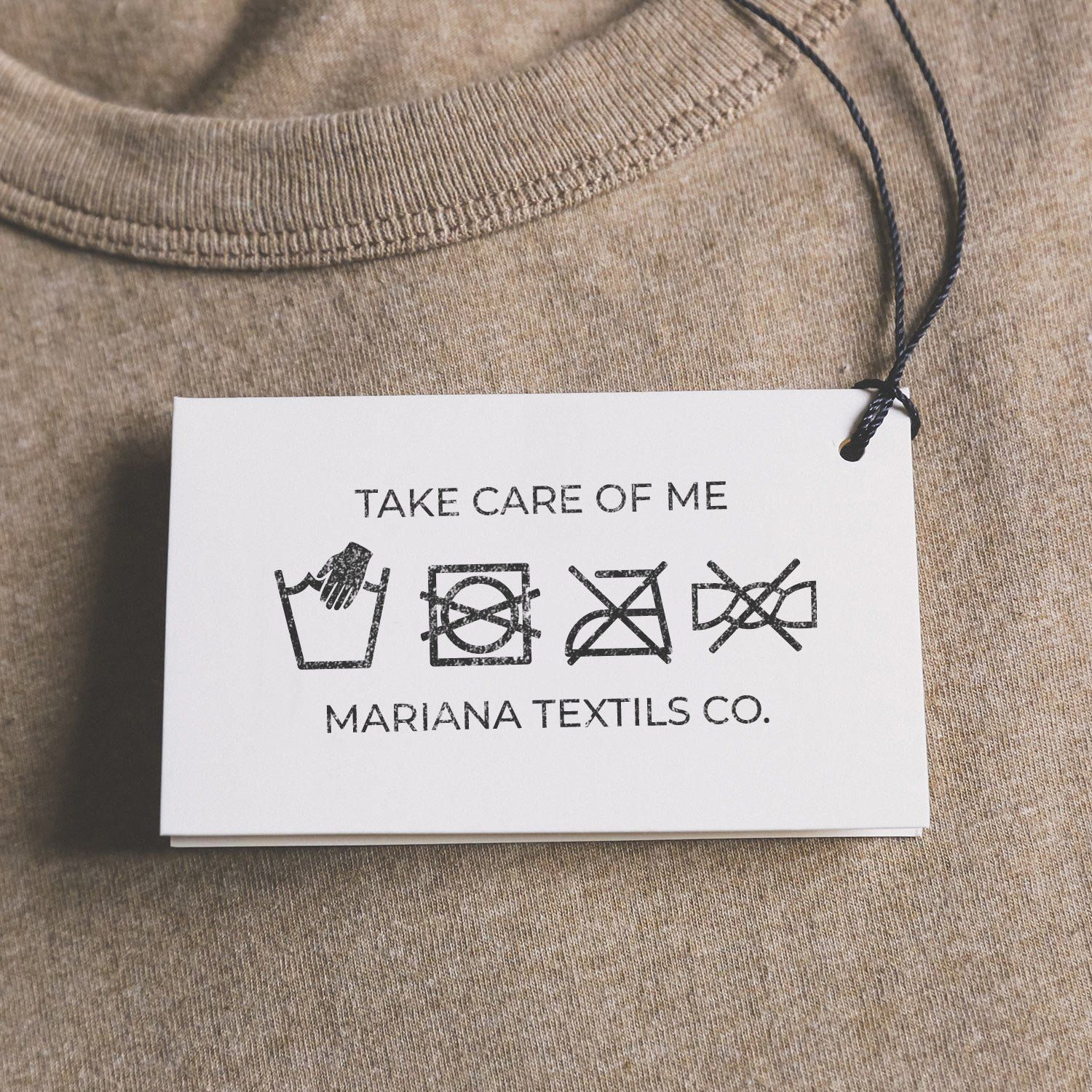 Custom Washing Instructions Stamp Custom Care Label Stamp For