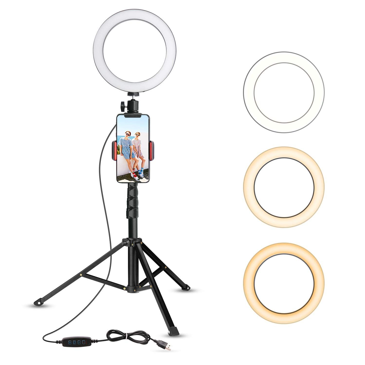 Top 5 Lighting Setups For Vloggers Filtergrade Selfie Ring Light Selfie Light Phone Tripod