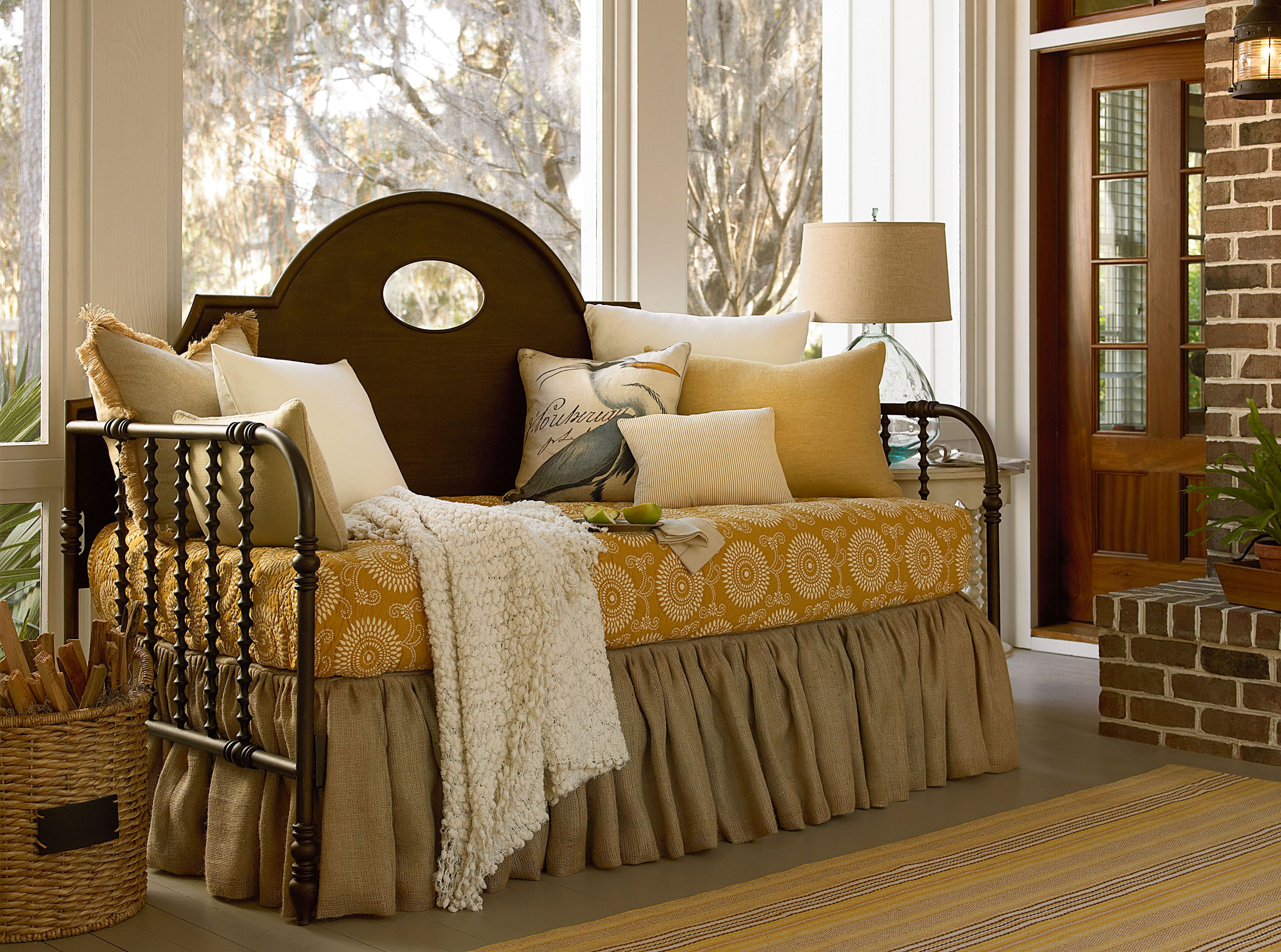 River House Collection-  Low County Day Bed in River Bank finish