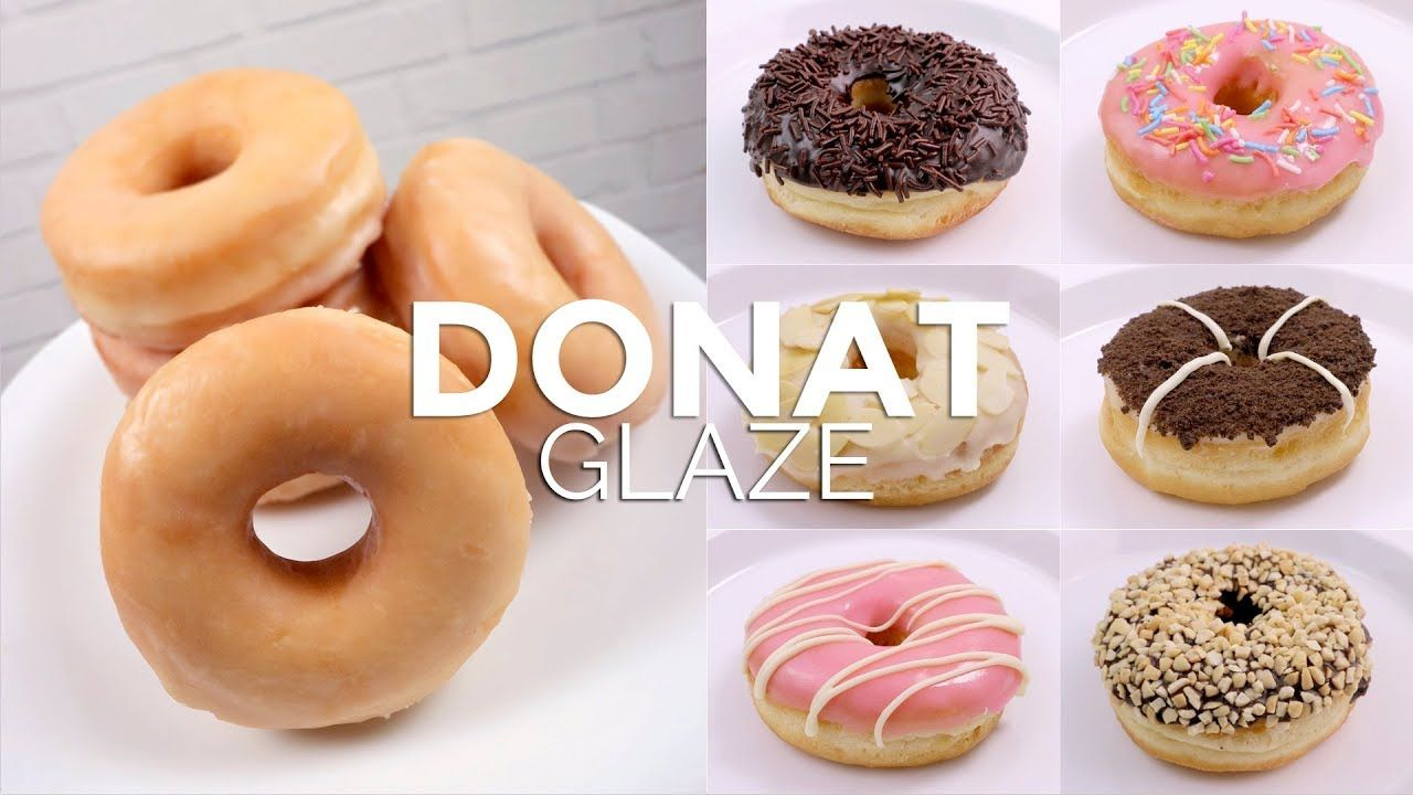 Donat Dengan Topping Glaze Glazed Doughnuts Makanan Ringan Manis Kue Opera Makanan Manis