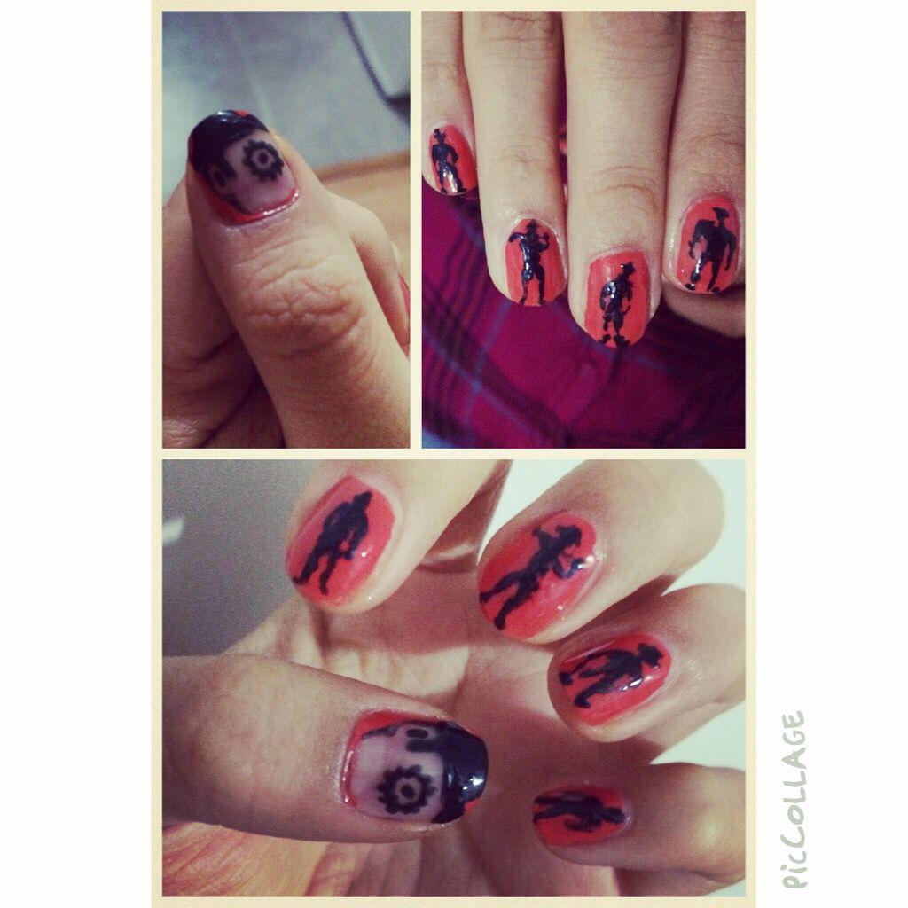 La naranja mecánica #manicure #nails #uñas #mani #manicam ...