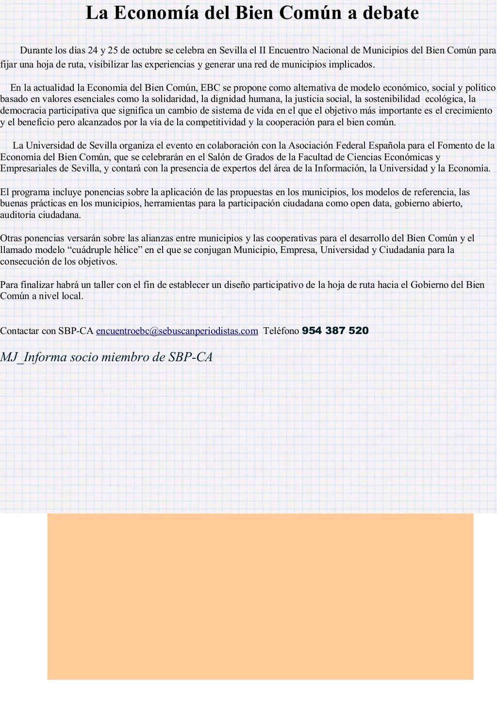 Economia Del Bien Comun By Mj Informa Mj Informa Via Slideshare