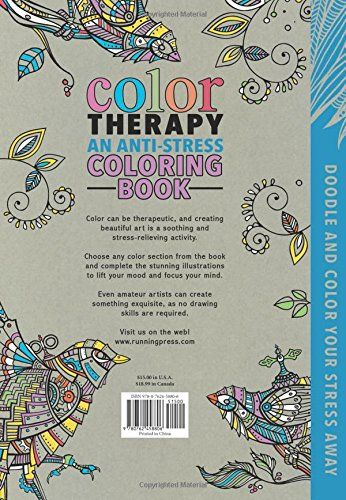 Color Therapy An Anti Stress Coloring Book Cindy Wilde Laura Kate Chapman Richard Merritt