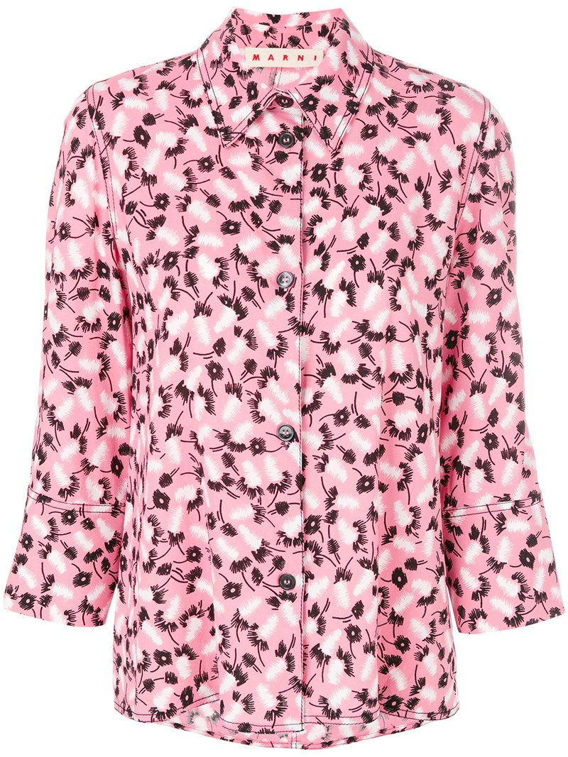 relaxed fit printed blouse - Pink & Purple Marni Cheapest Price Sale Online mVcPq