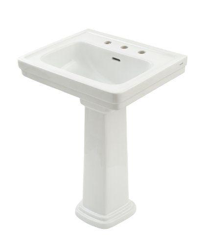 Toto Lpt532 8n 01 Promenade Lavatory And Pedestal With 8 Inch Centers Cotton White Deep Bowl Toto Http Www Amazon Com Dp Pedestal Sinks Sink Pedestal Sink
