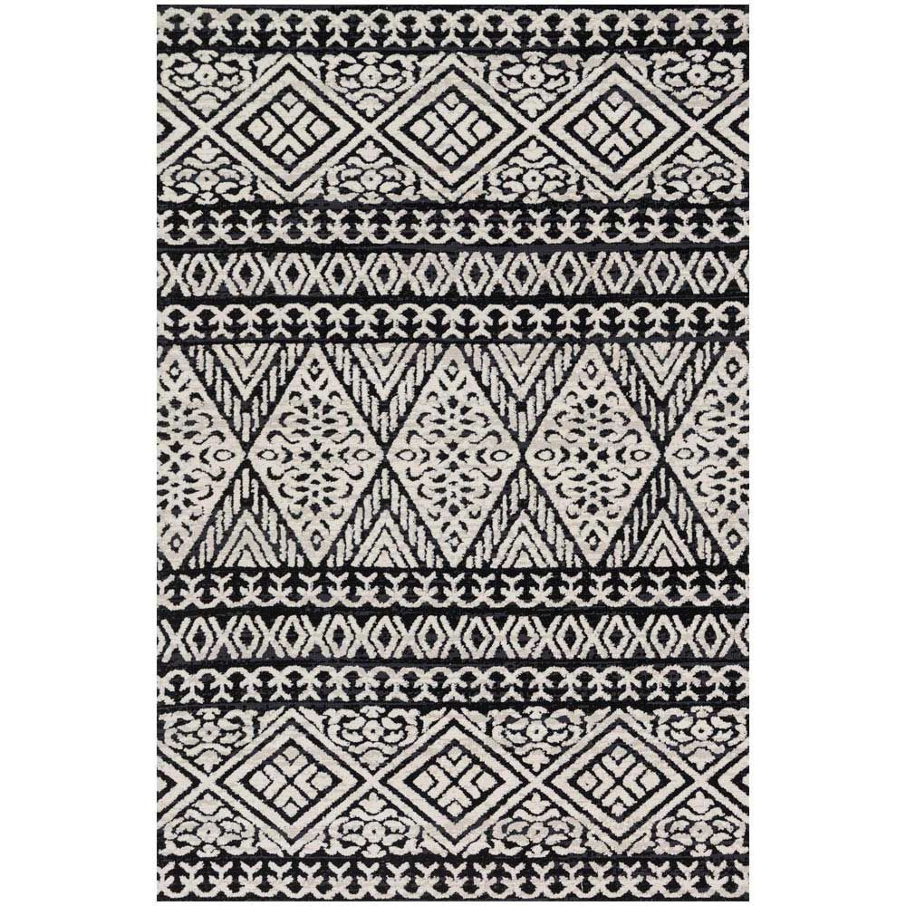 Magnolia Home Lotus Rug By Joanna Gaines Black Silver Area Rug For Living Room Magnolia