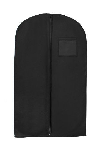 New Breathable 54″ Suit/Dress Black Garment Bag by BAGS FOR LESS