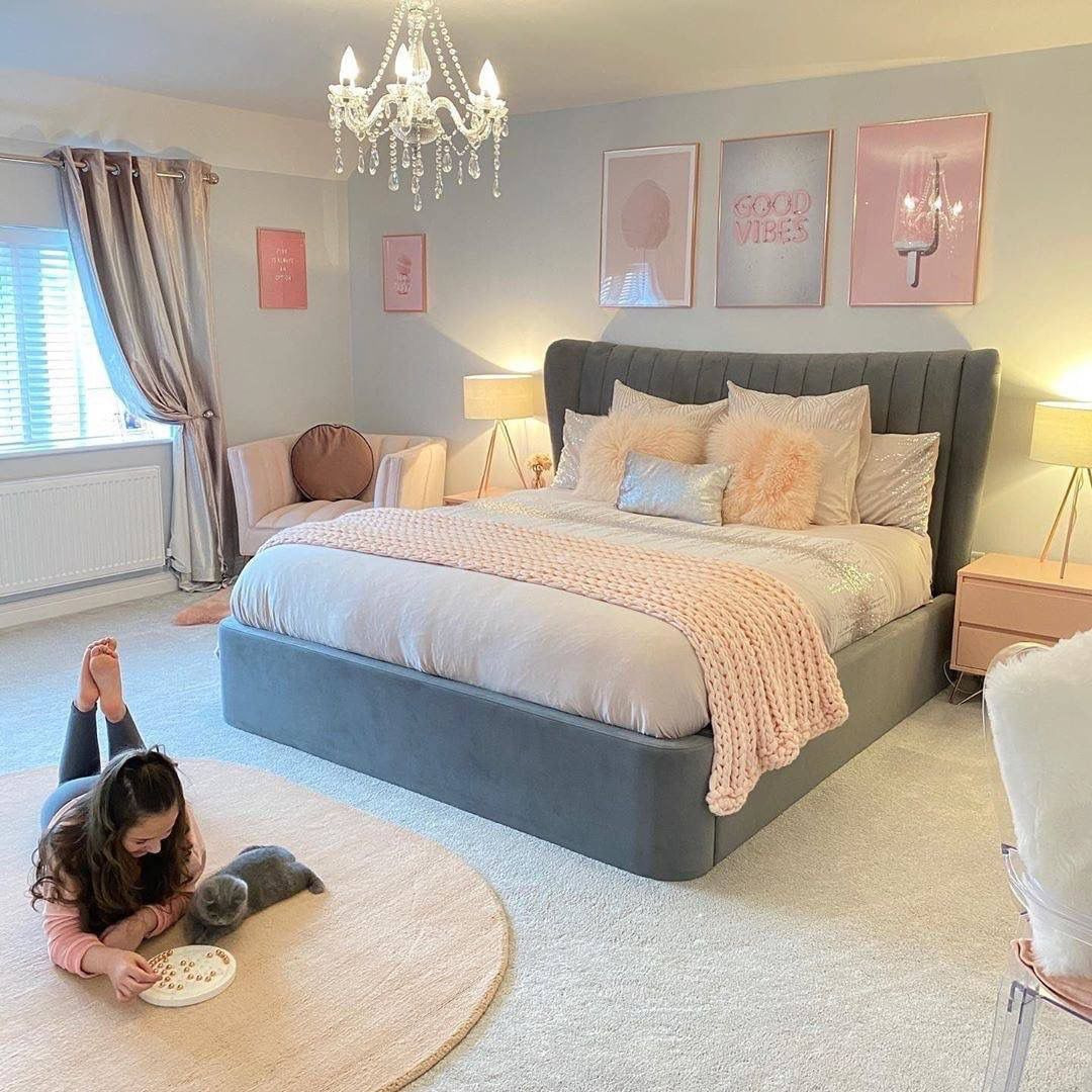 pin by jade guessford on rooms 1 in 2020 bedroom decor grey pink bedroom inspiration grey on grey and light pink bedroom decorating ideas id=40315