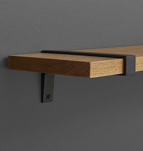 large strap shelf bracket available in 4 colors i like polished brass