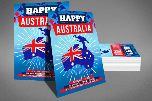 Australia Day Flyer by Party Flyers on @Graphicsauthor
