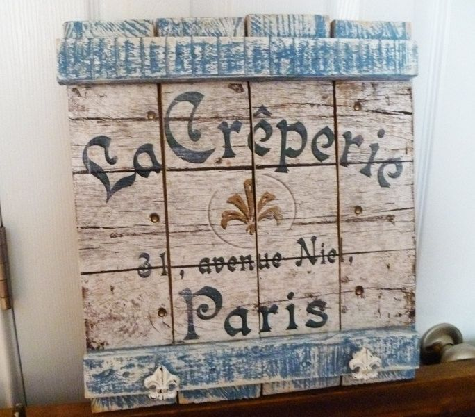 Pallet wood sign decoupage