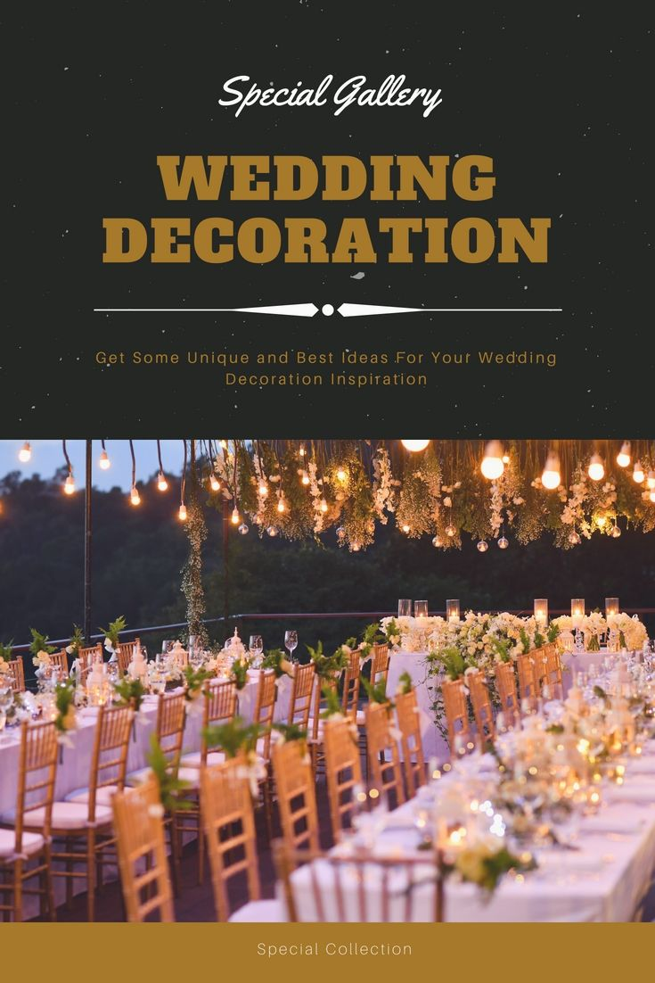 Latest wedding decoration images  Decorate Your Own Wedding Party With The Help Of These Latest