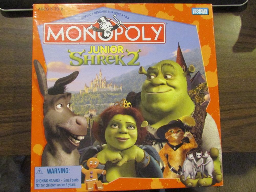 Monopoly Jr Shrek 2 Edition Complete Board Game Hasbro Board Games Shrek Games