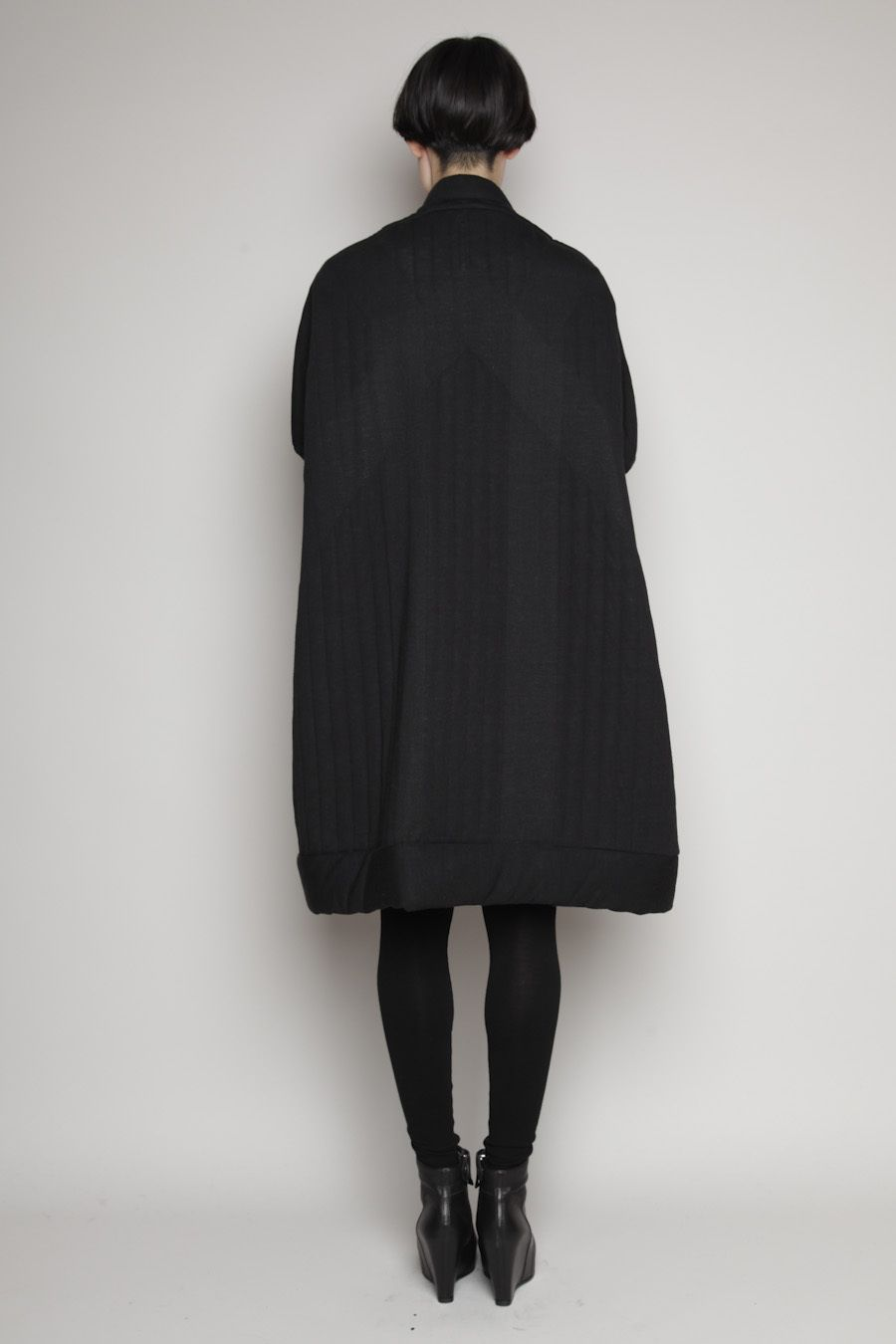 Totokaelo - Rick Owens LILIES Black Quilted Sail Coat