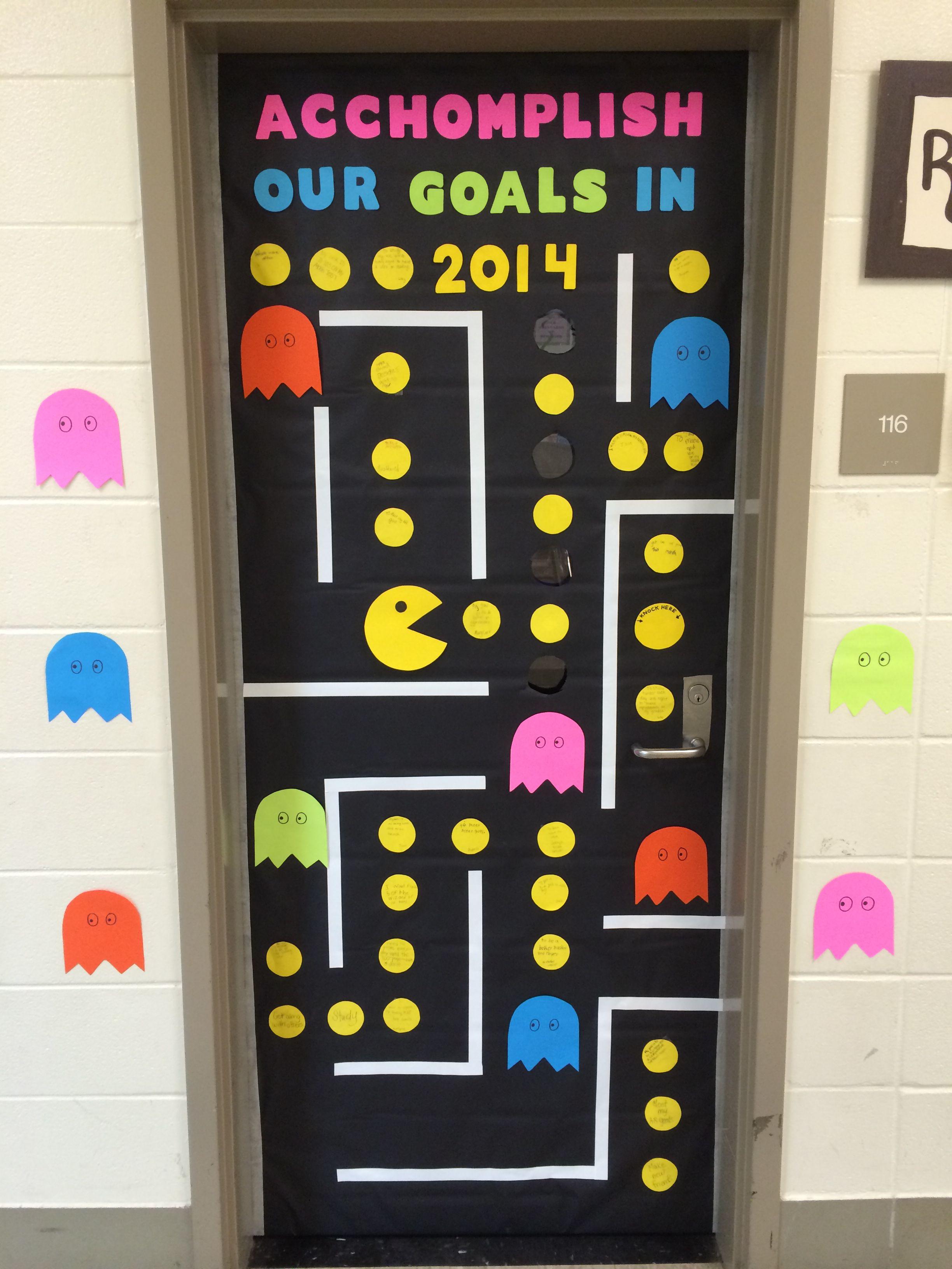 New year's door | Door bulletin boards, Elementary ...