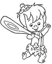 pebbles and bambam coloring pages - photo#19