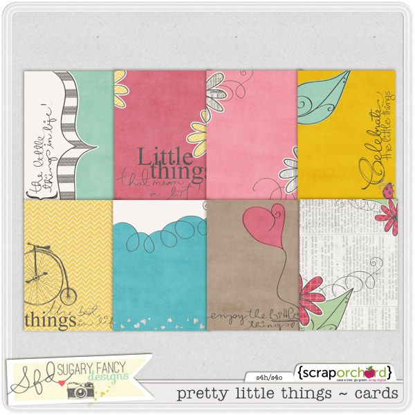 Pretty Little Things Cards by Sugary Fancy Designs.