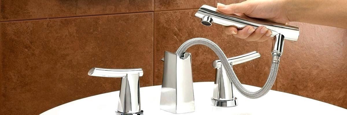 deck mount bathtub faucet with sprayer