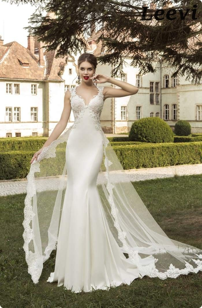 c605513ab Vestidos De Noiva Sereia Vintage Detachable Skirt Backless Sheath Wedding  Dress Stain Sexy Mermaid Long Tail Wedding Dresses