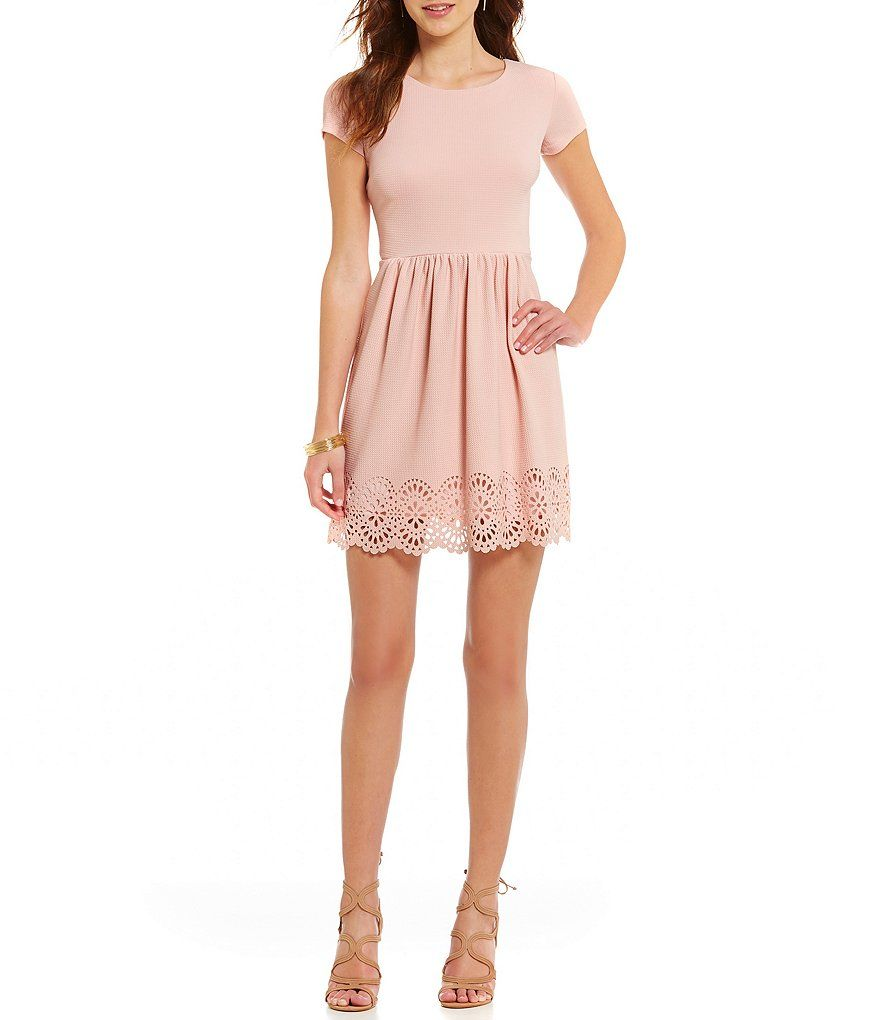 B darlin laser cut scalloped hem skater dress my style