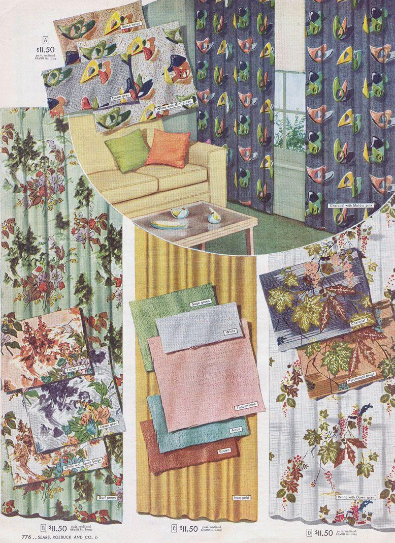 1956 Sears Catalog 14 Pages Living Room Drapes Etc PDF FAS103 F