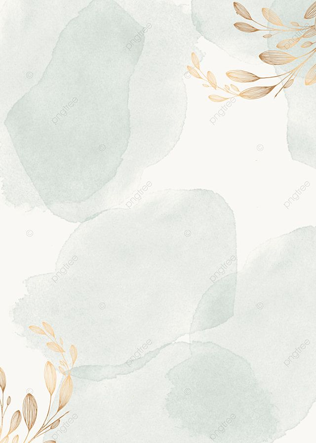 Green Watercolor Plant Background