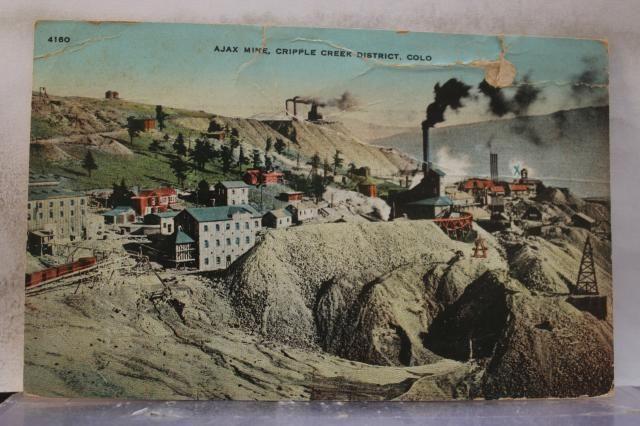Colorado CO Cripple Creek District Ajax Mine Postcard Old Vintage Card View Post