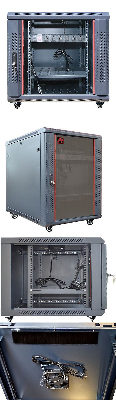 Rackmount Cabinets And Frames 51199 12u 35 Deep Server It Network Enclosure Rack Cabinet Fits Most Server Equipment Buy It Now On Wall Mount Rack Open Frame