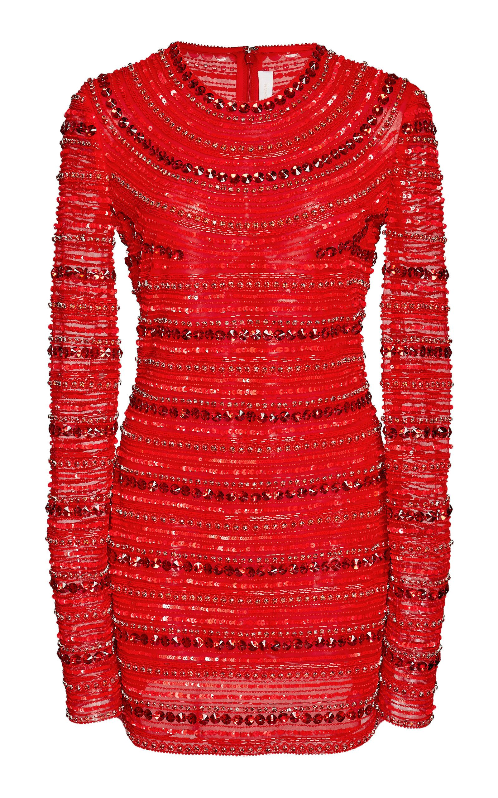 f91bbd72413e Sequin Embellished Long Sleeve Mini Dress by NAEEM KHAN for Preorder on  Moda Operandi