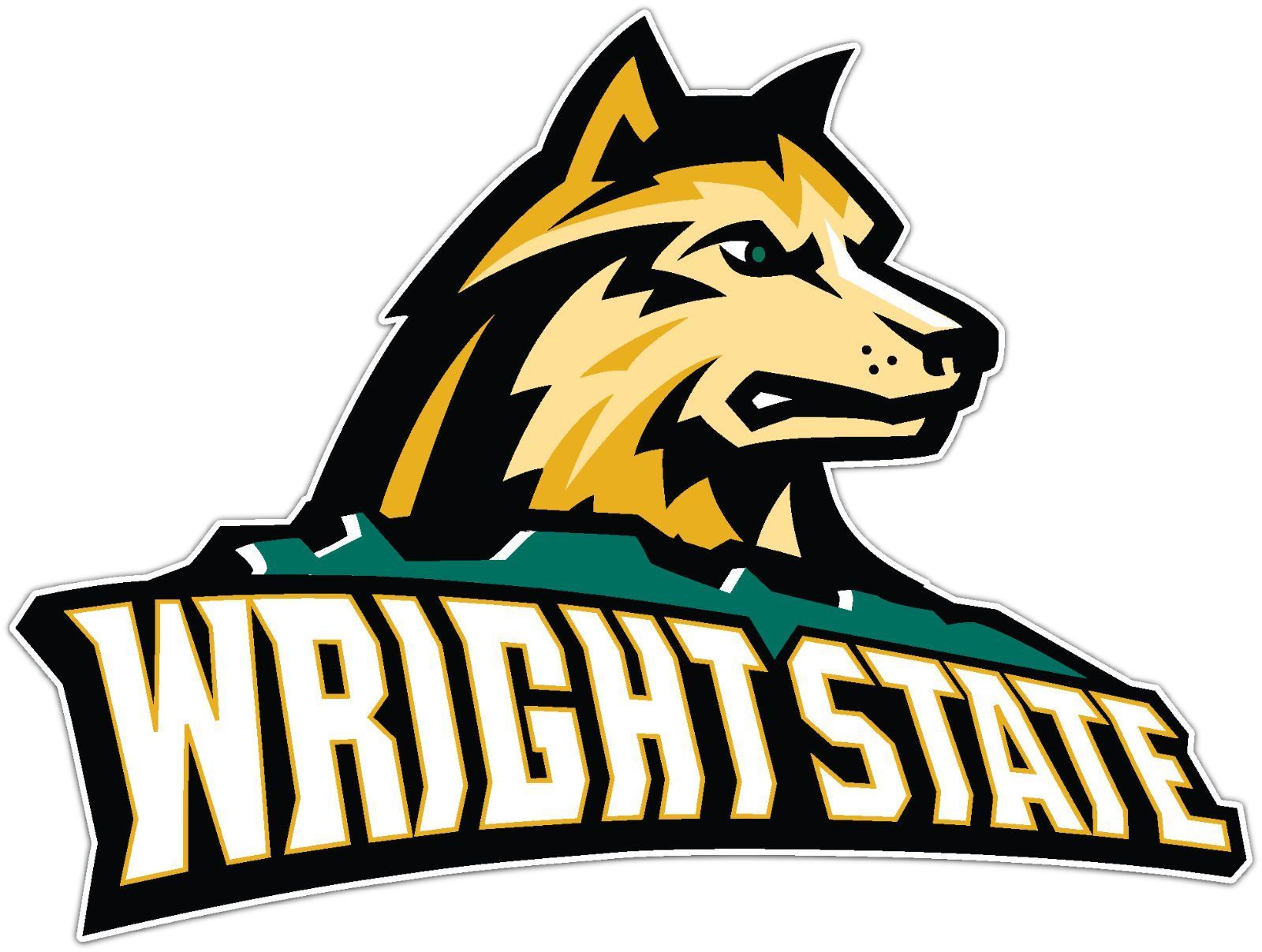 Wright State Raiders Ncaa Vinyl Car Bumper Window Sticker Decal 5 X4 Sports Logo Basketball Games For Kids Embroidery Logo [ 1207 x 1600 Pixel ]
