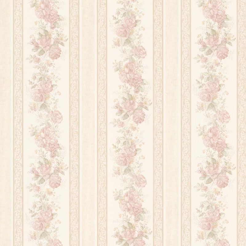 Vintage Rose Englische Landhaus Satintapeten Streifen Rosen Art Nr 68315 Mit Bildern Vintage Rosen Tapeten Landhaus Tapete