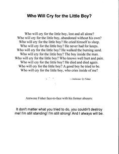 Persuasive Essays On School Uniforms Poem From Antwone Fisheri Love This Poem Sample Essay Global Warming also My Hero Essays Who Will Cry For The Little Boy Poem From Antwone Fisher  Poetry  Sonnet 73 Essay