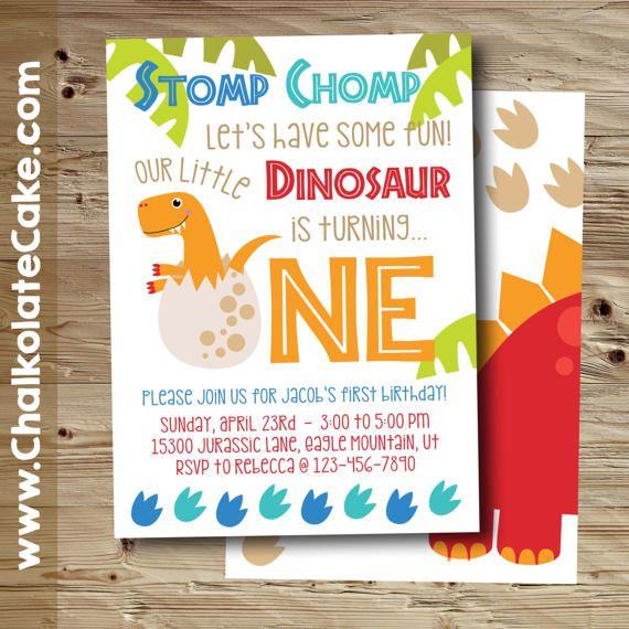 dinosaur first birthday invitation dinosaur birthday party, Birthday invitations