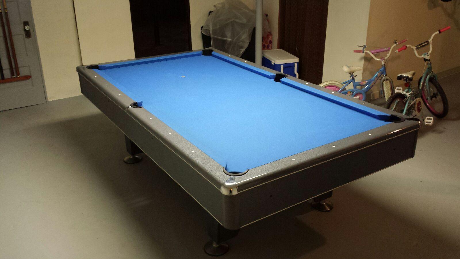 Imperial Billiards Gray Eliminator Genuine Slate Pool Table SOLD In - Eliminator pool table