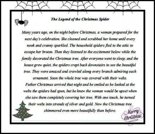 picture about Legend of the Christmas Spider Printable identify The Tale of The Minimal Xmas Spider. Online video Guide Upon