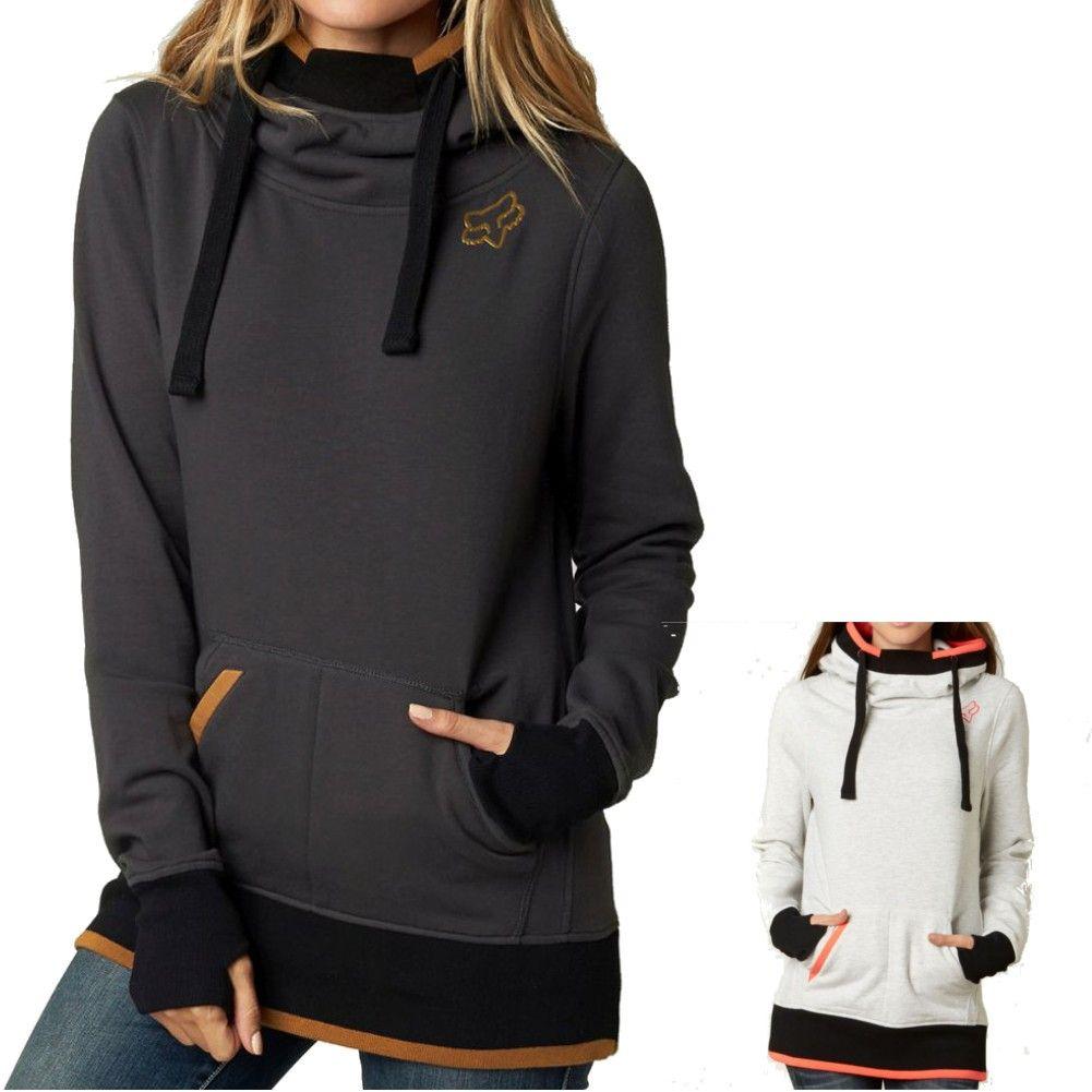 Womens Long Hoodie Causal Motocross Womens Pullover Sweatshirt Tops