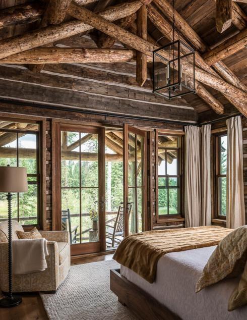 Ansel haus custom montana wyoming homes on site for Custom home builders wyoming