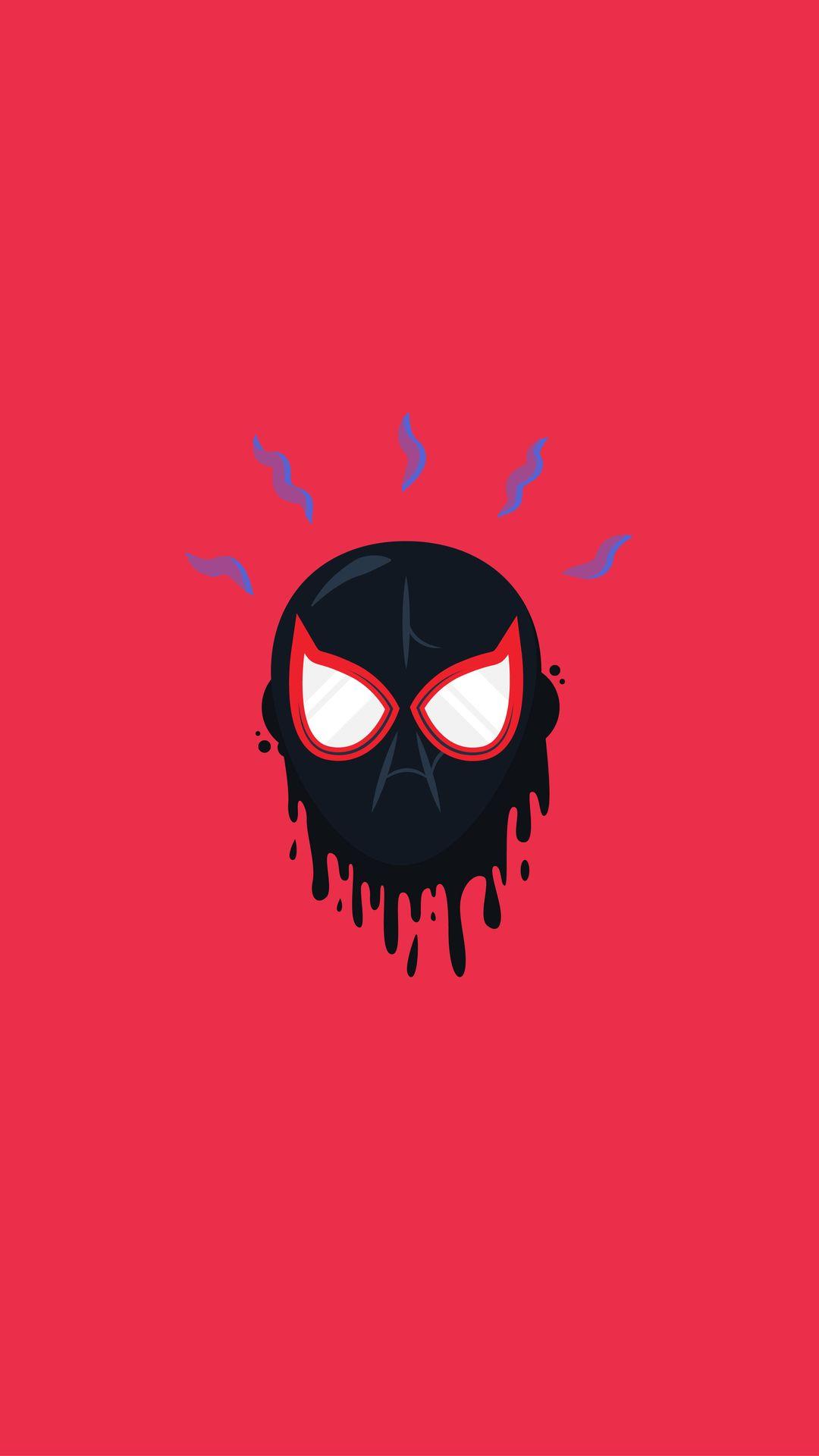 Miles Morales Spiderman Mask Iphone Wallpaper Spiderman Mask