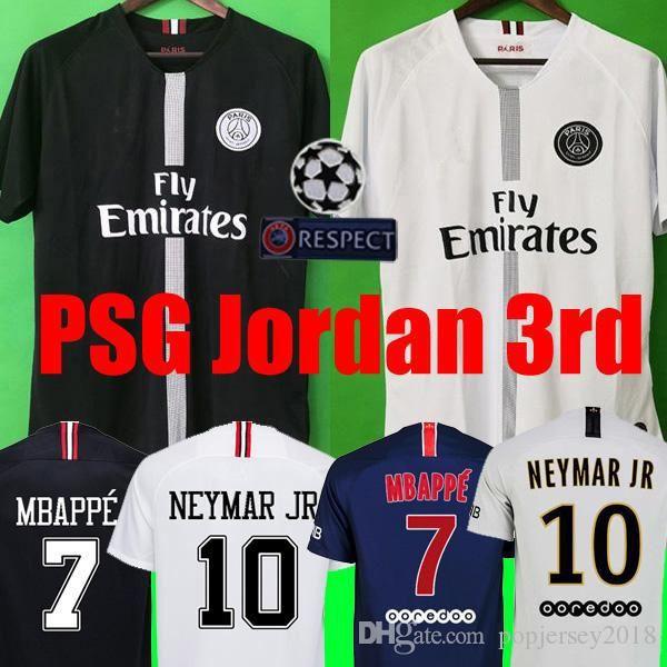 closer at superior quality top design Thailand maillots PSG soccer jersey 2019 Paris MBAPPE saint ...
