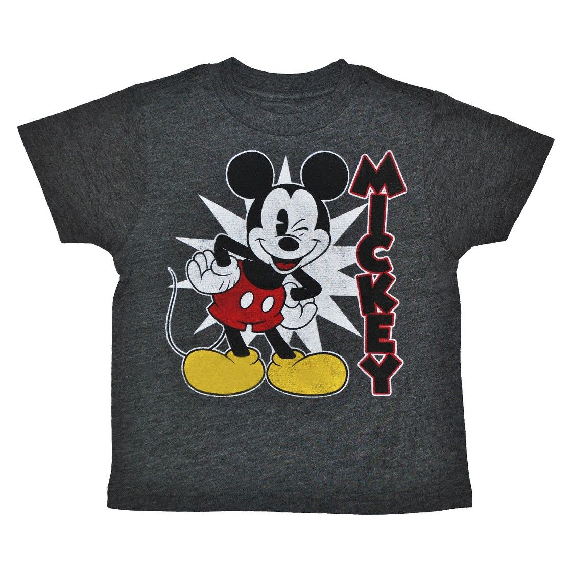 Disney� Mickey Mouse Infant Toddler Boys' Short Sleeve Tee - Charcoal Heather
